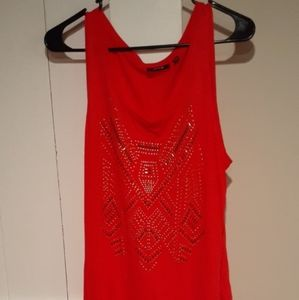 Apt 9 bright red tank top Size Large